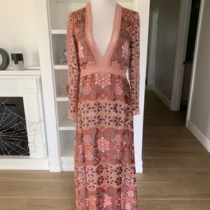 NWT For Love and Lemons Juliet maxi dress